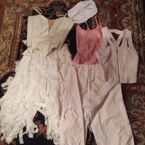 White Medium adult multi piece costumes